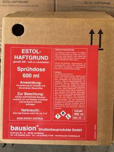 Estol Haftspray Verpackung | bausion ® Strassenbau-Produkte GmbH